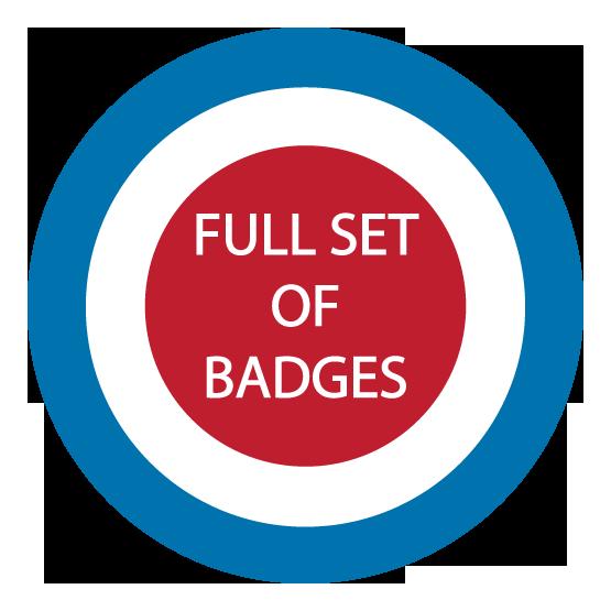 Image of Full Set of Badges